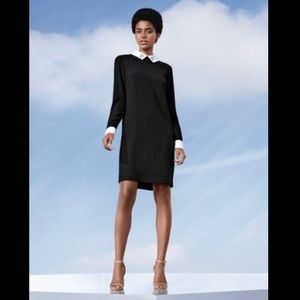 Little Black dress with cuffs and collar